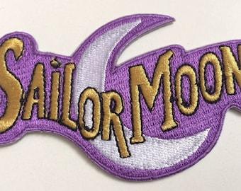 Sailor Moon Patch (3.75 Inch) Embroidered Iron / Sew on Badge Applique Retro Cartoon Manga Souvenir Costume Magic Luna Cat Sailor Mercury