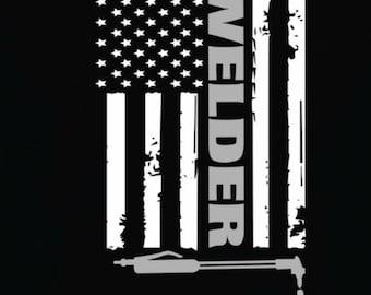 Welder Flag Vinyl Decal