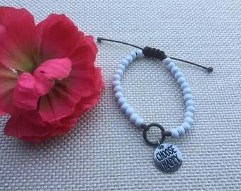 wooden bracelet ,beaded bracelet, charm bracelet,wooden beaded bracelet,white bracelet