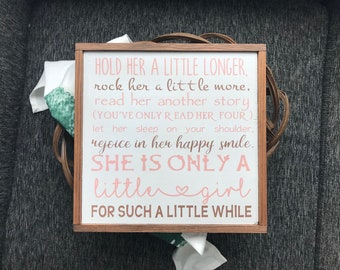 Hold her a little longer|baby shower|baby gift|baby girl|baby girl gift|baby girl nursery