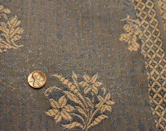 18 Vintage  Blue flower  floral fabric with two hemmed edges. Very nice.