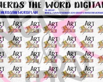 Art School Planner Stickers