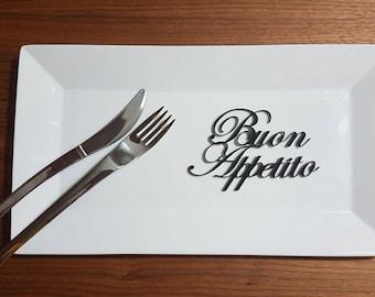 Customizing wedding table wedding Placecard Bon appétit plexiglass acrylic letters