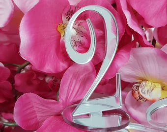 Customizing wedding table number table markers bar restaurant wedding plexiglass acrylic letters