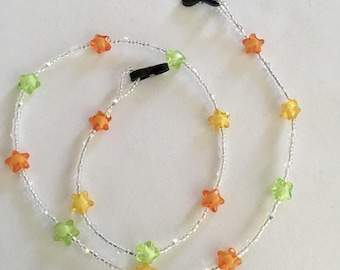 Sparkly star beaded spectacle/glasses chain