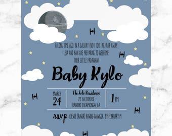STAR WARS Baby Shower/ Baby/ Clouds/ Death Star