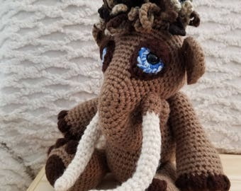 Crocheted Woolly Mammoth Amigurumi Toy
