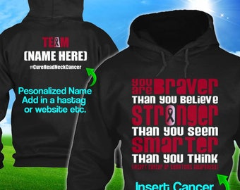 Personalized Head Neck Cancer Awareness Hoodie Burgundy Ivory Ribbon Braver Men Women Kid Youth Custom Unisex Pullover Gift Winter Cloth