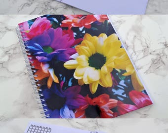Rainbow Flowers Bullet Journal - Free Dated!