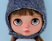 Blythe and Middie doll eye chips resin eyes glass ecyechips crystal realistic in grey OOAK doll custom customize - Nº 4