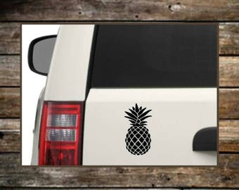 Pineapple Decal / 12 Colors /Word Decal / Laptop Decals / Car Decals / Computer Decals / Window Decals