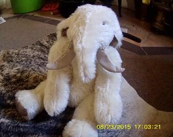 "Manny ""Mammophant"" Furry mohair soft sculpture elephant"