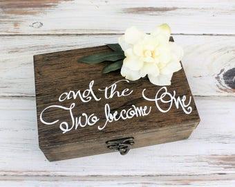 Rustic Ring Bearer Box - Wedding Ring Holder - Ring Bearer Pillow - Rustic Wedding - Sunflower - Ring Box - Custom Wood Box - Barn Wedding