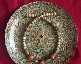 Vintage boho beaded Necklace