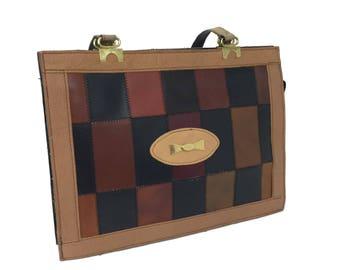 Patchwork Leather Shoulder Bag c1970's