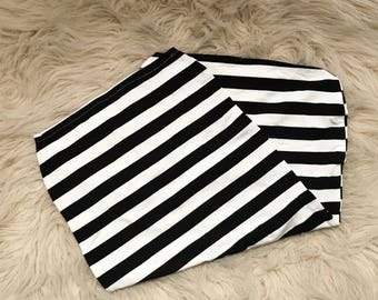 STRIPES --  black and white swaddle, baby swaddle, cocoon swaddle, baby sleep sack