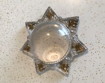 Vintage Magnifiying Glass/Paper Weight Star Shaped