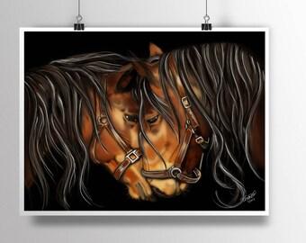 Horse Art, Horse Wall Art, Horse Decor, Wall Hanging, Western Art, Western Wall Art, Animal Wall Art, Farm Art, Horse Portrait Wall Decor