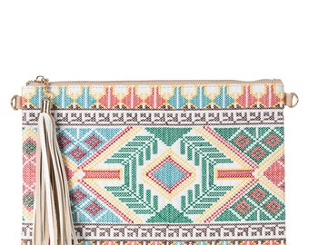 Boho Designed Clutch Purse