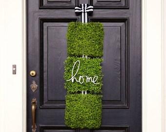 spring home door decor