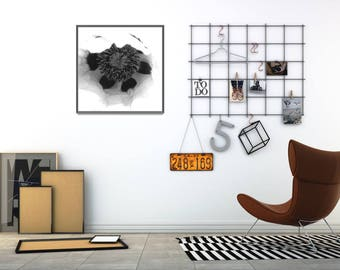 Printable Black and White Photo Decor, Modern Flower Art Prints, Large Flower Poster, Large Digital Poster, Cheap Gift Ideas