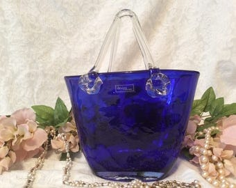 "ArtGlass ""Purse"" Hand blown by ""Design Society"""