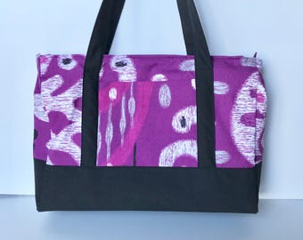 Tote, shoulder bag with 2 compartments
