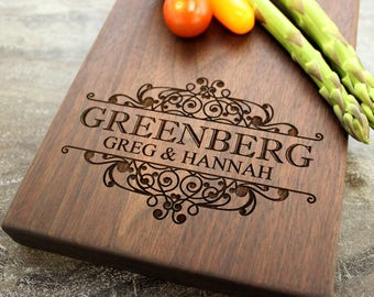 Personalized Cheese Board, Serving Board, Bread Board, Custom, Engraved, Wedding Gift, Housewarming Gift, Anniversary Gift, Engagement #31