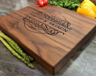 "Personalized Chopping Block 12x15x1.75"" - Engraved Butcher Block, Custom Chopping Block, Housewarming Gift, Wedding Gift #32t"