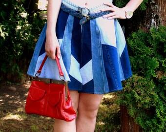 Vintage Faux Leather Bag, 70s bag, Vintage womens bag, Red bag,