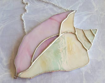 Stained Glass Conch Shell