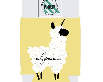 AlpacaCorn Can and Bottle Holder
