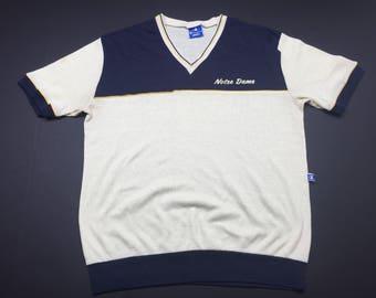 Vintage 90s notre dame fighting irish t-shirt mens XL fits L champion brand ncaa football
