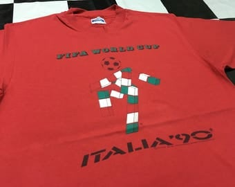 Vintage Fifa world cup 1990's italia shirt Size L Made in 1986's official licensed