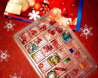 Advent calendar Christmas Calendar beads Dreadperlen Dreadschmuck