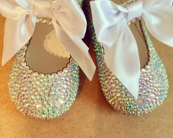 Hand encrusted toddler shoes