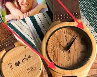 Personalized Bamboo Watch