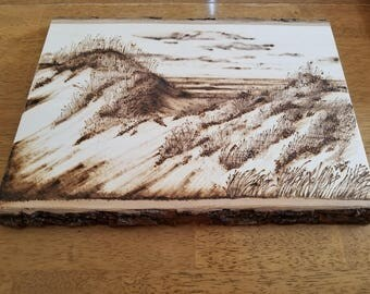 Sand Dunes of the Outer Banks Pyrography