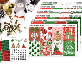 Sparkle Season Planner Kit, Christmas Weekly Kit, Holiday planner stickers, Winter Planner Kit, for use with Erin Condren