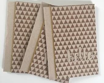 Hello Greeting Card Set // Just Because // Handmade Card Set