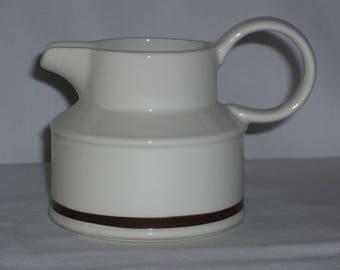 Midwinter white creamer with brown stripe