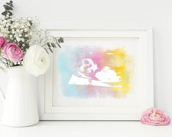 Ultrasound keepsake - Watercolour baby keepsake - Baby Scan Art - Ultrasound art - Newborn Baby Scan Gift - Ultrasound Gift - Baby scan gift