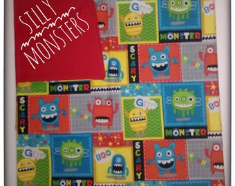 Receiving baby blanket Silly Monsters