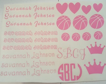 Personalized name sheets