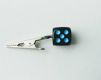 Blue Black Dice Roach Clip