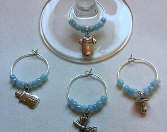 Baby Boy Wine Charms