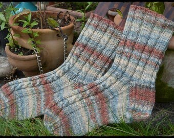 Van Gogh Socken Gr.36/37 ∞ Spezial Druck Opal Sockenwolle