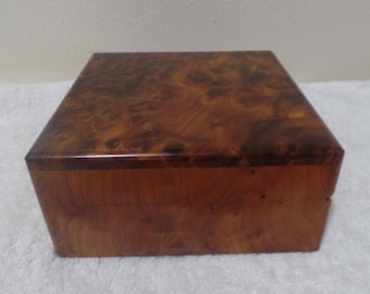 Moroccan Jewelry Gift Plain Box Handmade With Pure Thuya Wood Tree