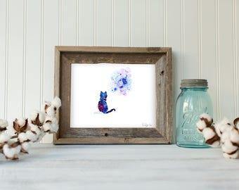 Curious Cat, Home Decor, Wall Decor, illustration