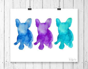 Frenchie Collection, Friendly,  animal illustration, Frenchie illustration, Home Decor